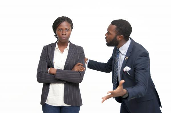 A supervisor angry at a subordinate